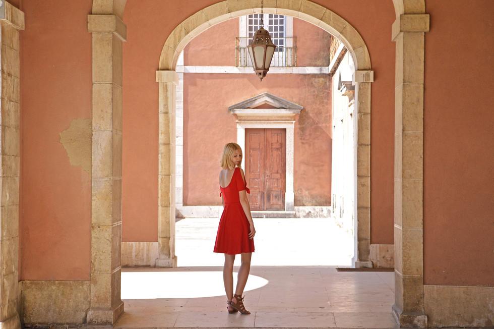 Nanette red summer dress