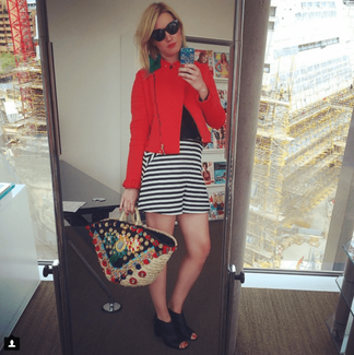 Alex creates a fab daytime look with the high waist culottes - photo c/o Wasted Chic