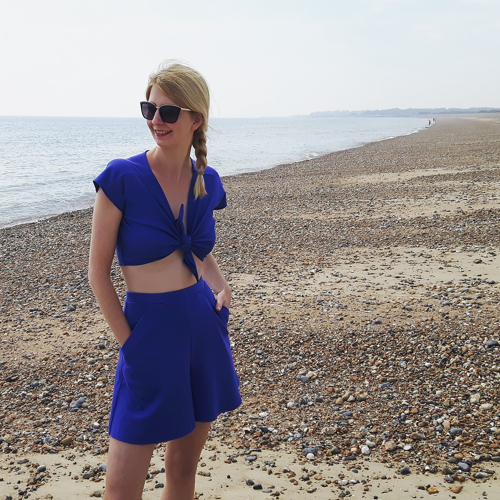 Ava Two Piece Set on Littlehampton beach