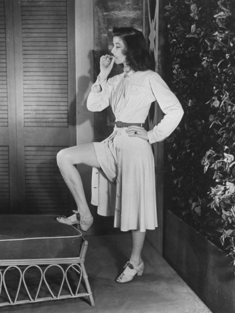 Katharine Hepburn wears the trousers