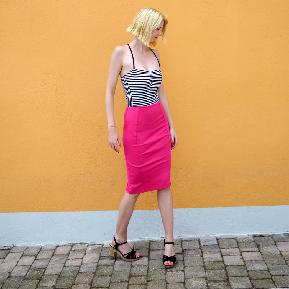 Una stripy strappy bodysuit