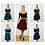 Black Velvet Top and Skater Skirt Dress Set available colours