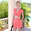 Riviera Style High Waist A-Line Shorts in Coral Pink