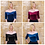 Available colours for off shoulder velvet tee