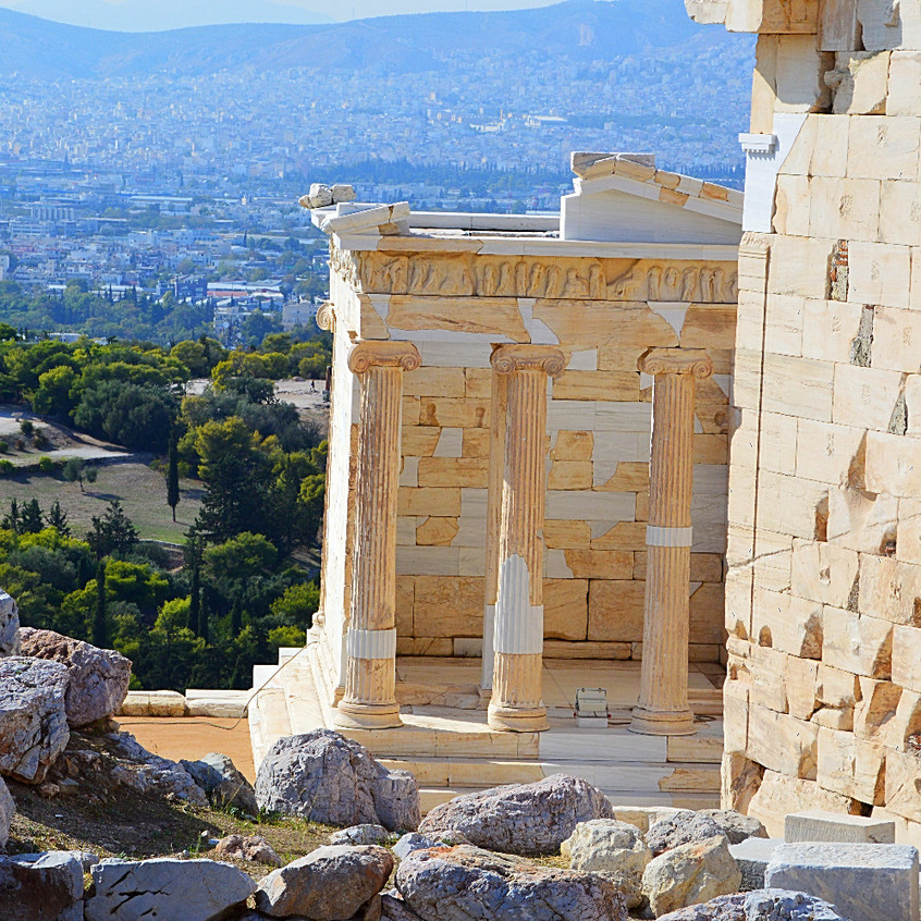 Visible restoration at the Temple of Athena Nike