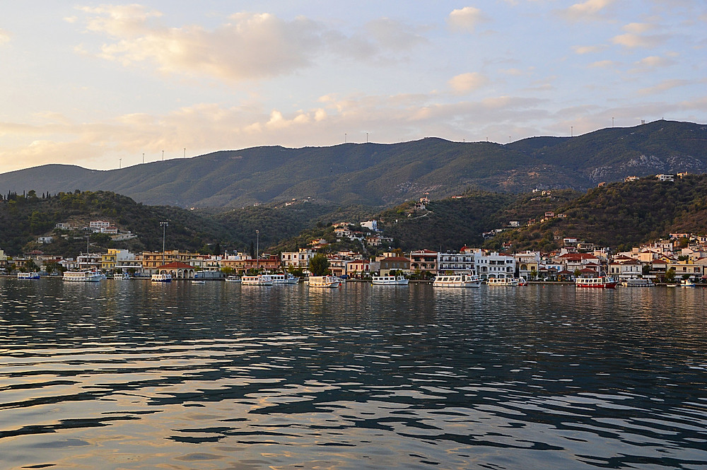 Catching the ferry boat from Galatas to Poros