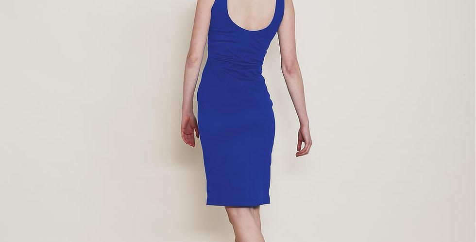 Marilyn Evening Pencil Dress in Royal Blue