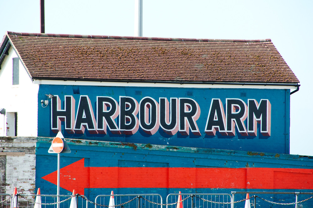 This way to the harbour arm - Folkestone