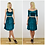Grace Teal Blue Stretch Velvet Two Piece Set outfit options