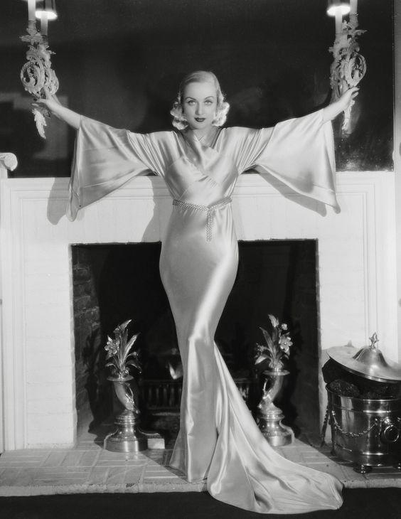 Carole Lombard silk dress