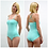 Thumbnail: UNA | Pastel Mint Sweetheart Bodysuit with Crossover Straps