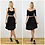 Luxury High Waisted Skater Skirt in Black Velvet outfit options