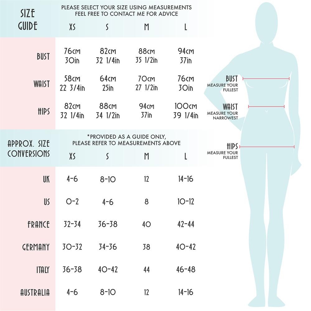 Stylecamp size chart