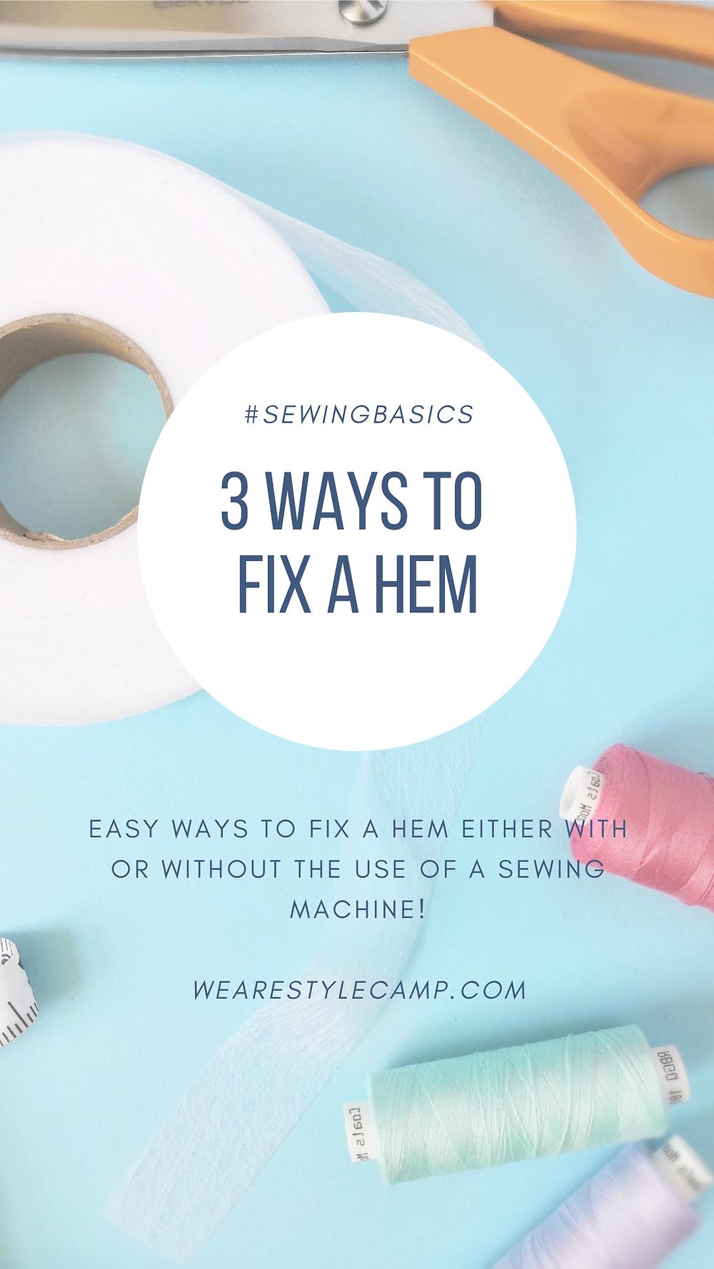 3 ways to fix a hem