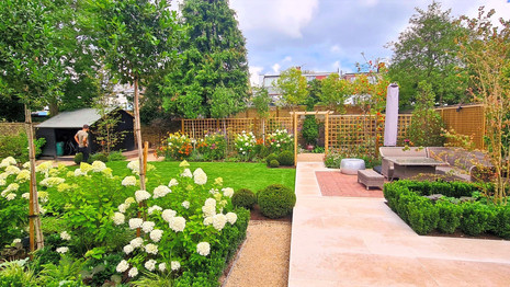 Fabulous Formal Family Garden with Terraces and Large Lawn