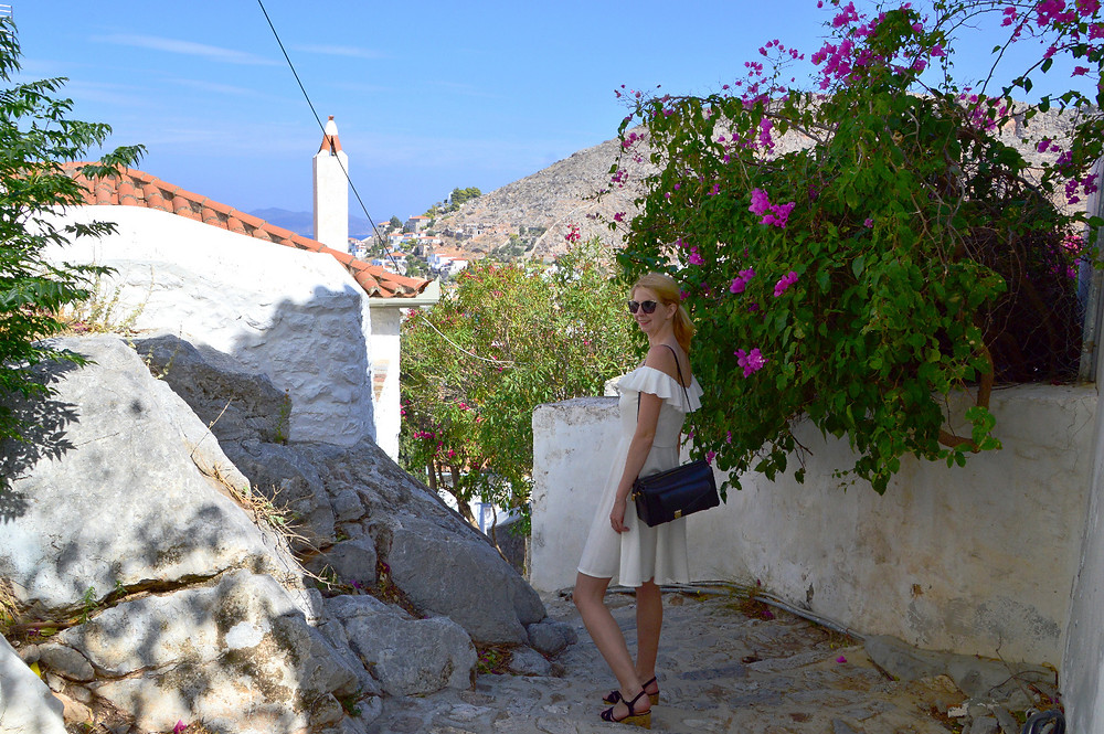 Exploring in Hydra, Greece