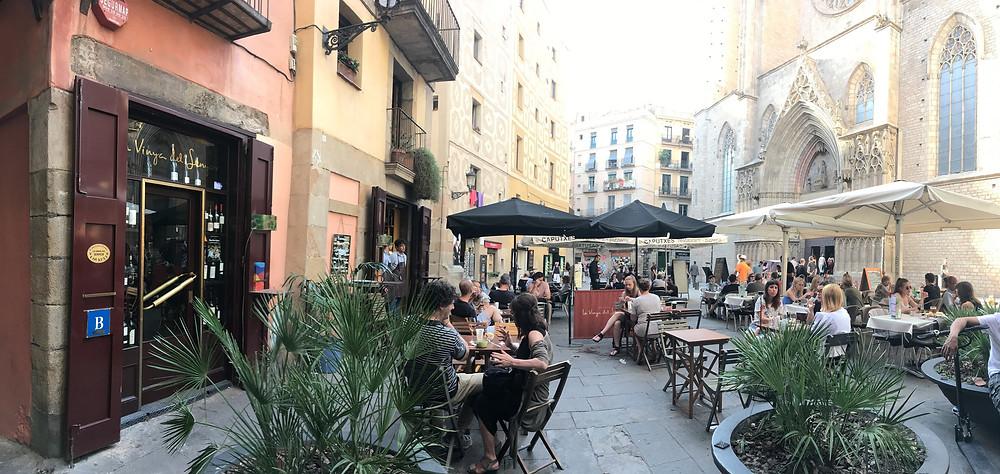 The peaceful square at La Vinya del Senyor - Picture c/o La Vinya del Senyor