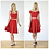 50s Style High Waisted Flared Skirt in Red outfit options