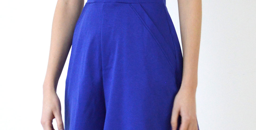 Women's High Waist Pull on Skirt Shorts in Royal Blue front view