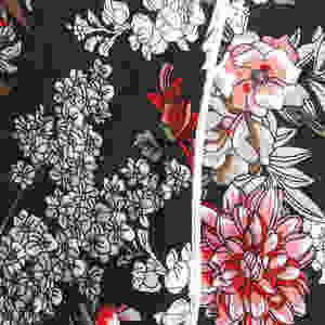 Stylecamp Marlene floral jumpsuit fabric close up
