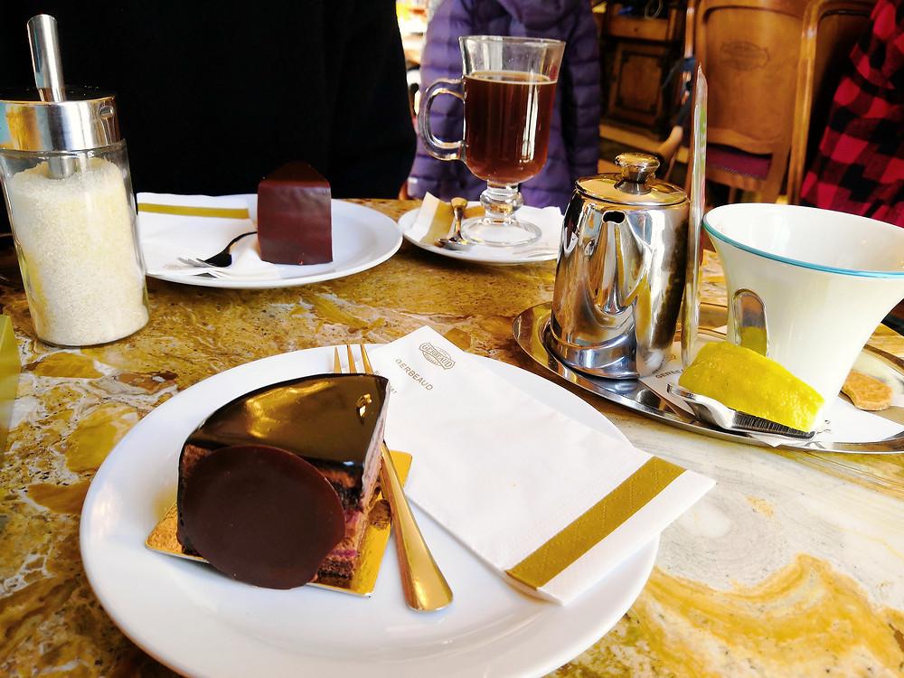 Gerbeaud slice, Cafe Gerbeaud, Budapest