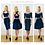 Mix n match navy velvet top and skirt sets