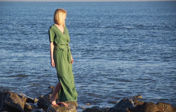 Summer two piece co ords olive green