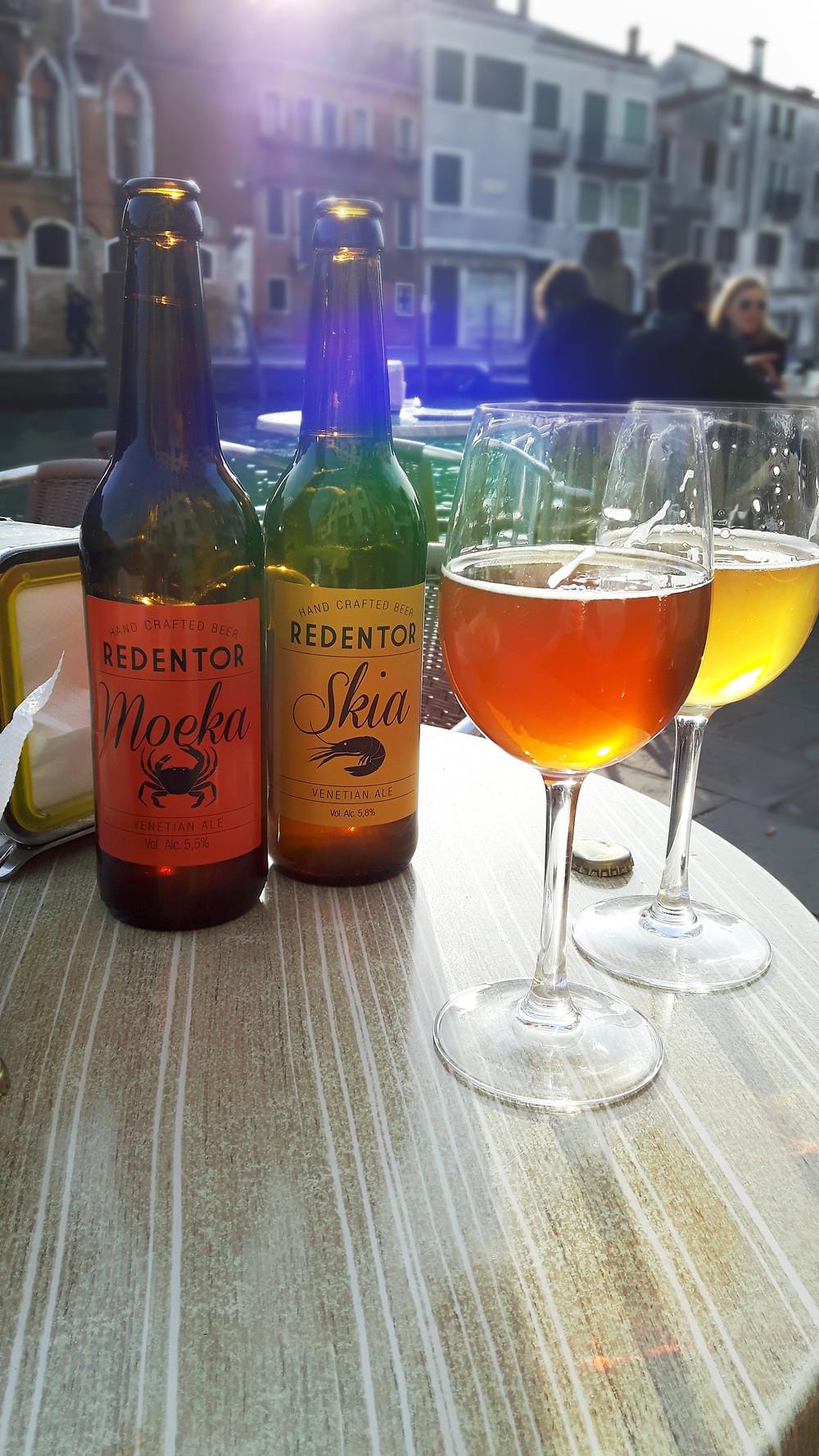 Redentor - locally brewed Venetian ale