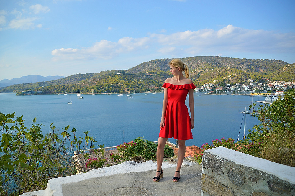 Stunning views out to sea from Poros clock tower