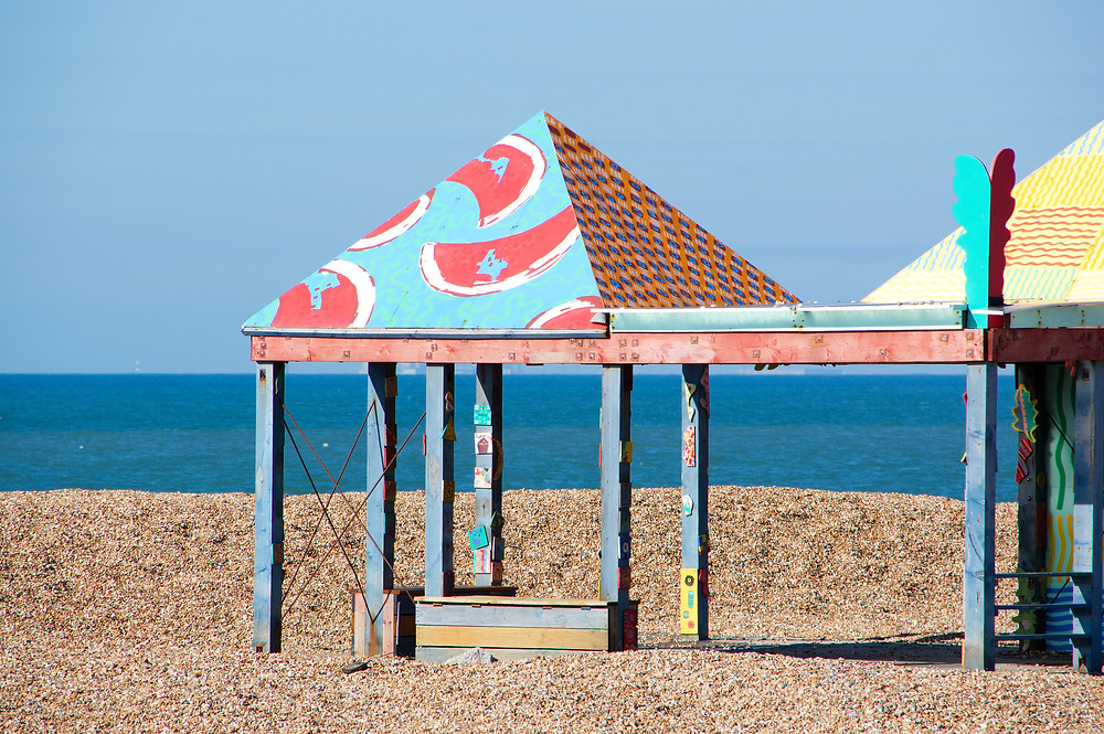 Casa Anacaona by Sol Calero - one of the artworks of Folkestone's art trail at the beach