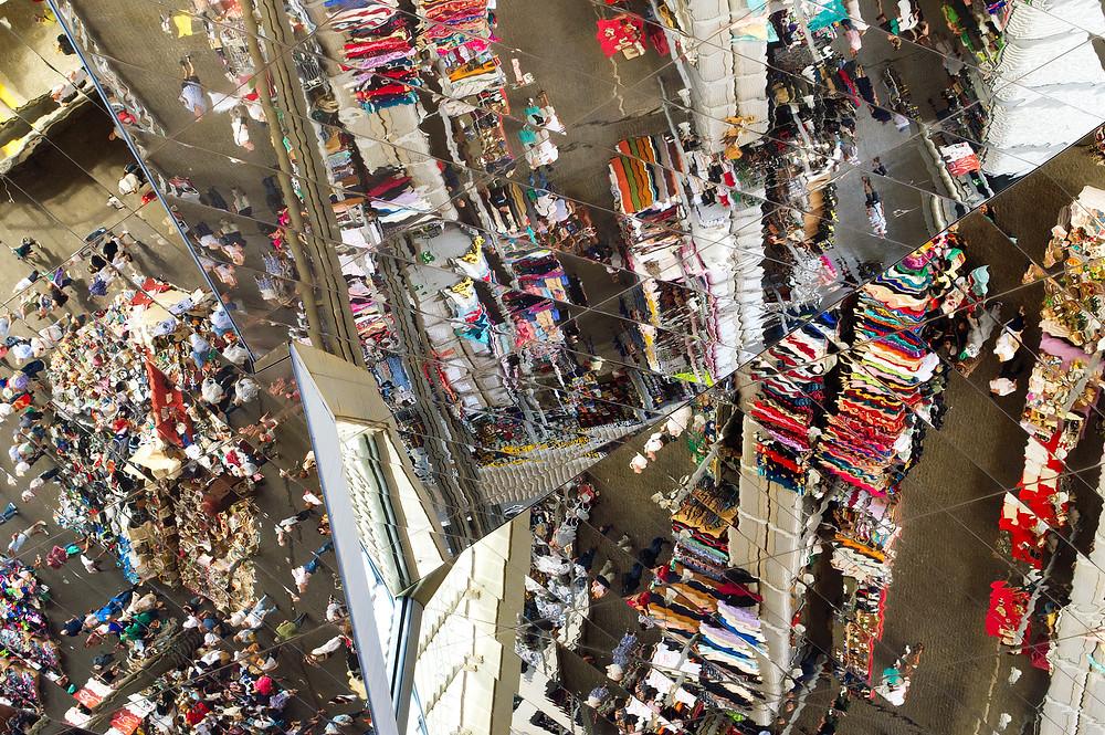 Mercat dels Encants mirrored ceiling