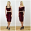 Panelled Wiggle Pencil Skirt in Red Velvet outfit options
