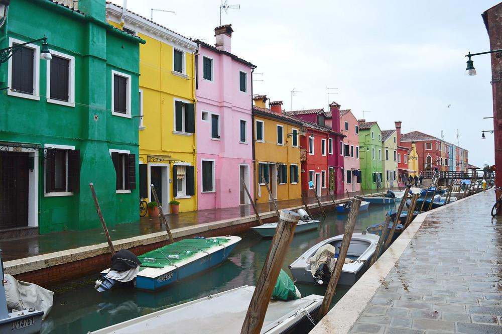 Fishermans' houses in Burano