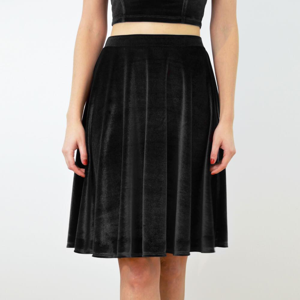 https://www.wearestylecamp.com/product-page/high-waisted-skater-skirt-black-velvet
