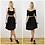 Grace Womens Black Velour Crop Top Set with High Waist Skater Skirt outfit options