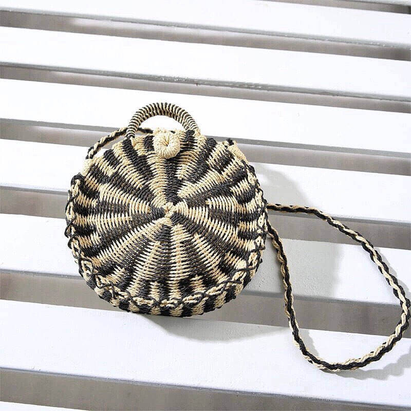Aruba straw circle bag
