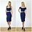 Vintage Style High Waist Bodycon Pencil Skirt in Navy outfit options