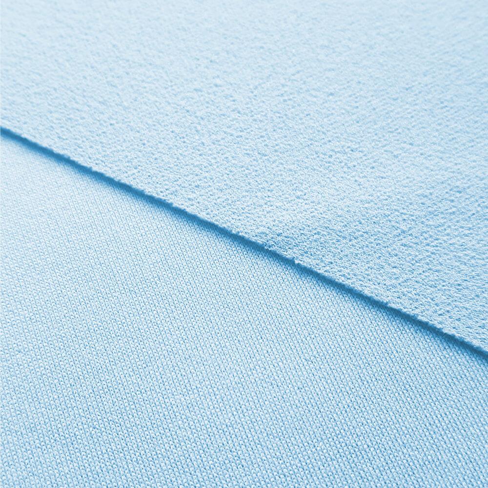 Scuba crepe fabric in pastel blue