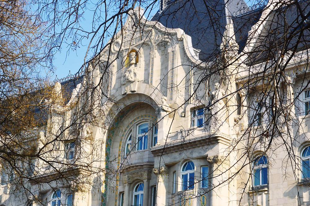 Art Nouveau detail of Gresham Palace, Budapest