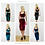 KIRSTEN | Velvet Crop Top and Pencil Skirt Two Piece Set available colours