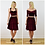 Elegant High Waist Velvet Skater Skirt in Red Velvet outfit options