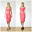 Classic High Waist Fitted Pencil Skirt in Coral Pink outfit options