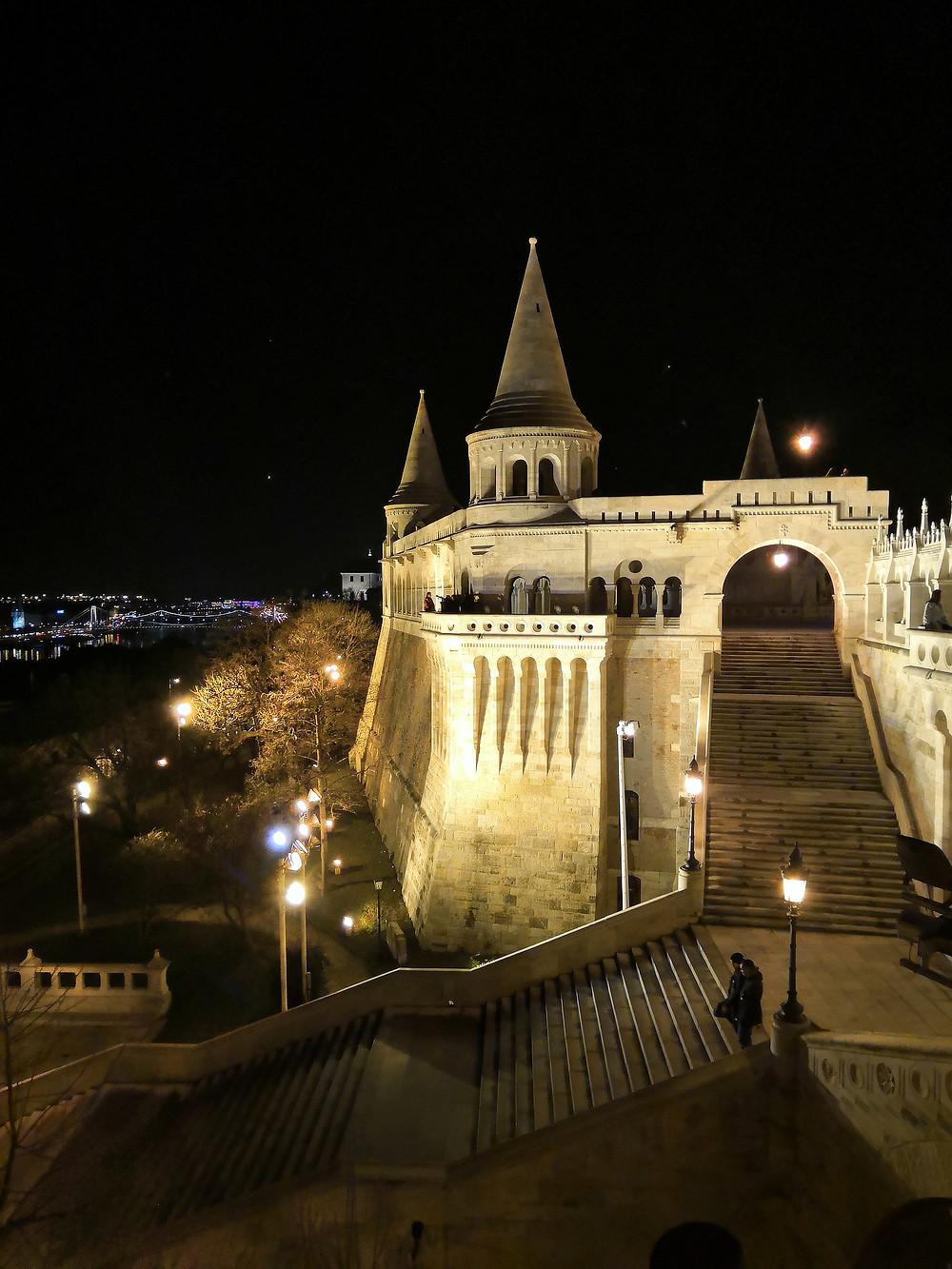 Fisherman's Bastion at night, Budapest