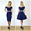 Elegant Bardot Style Crop Top in Navy back outfit options