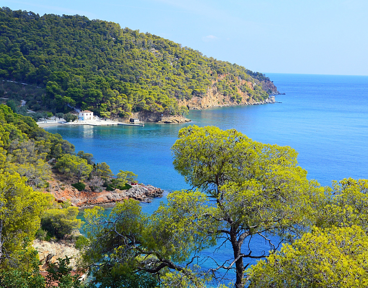 Situated on one of the easterly coastal roads and set below the Monastery