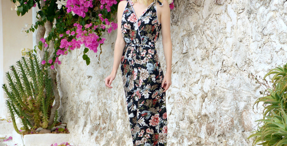 Marlene Floral Print Summer Womens Jumpsuit
