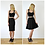 Vintage Style Sweetheart Strap Fitted Crop Top in Black outfit options