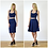Vintage Style Contour Fitted Jersey Bralet in Navy outfit options