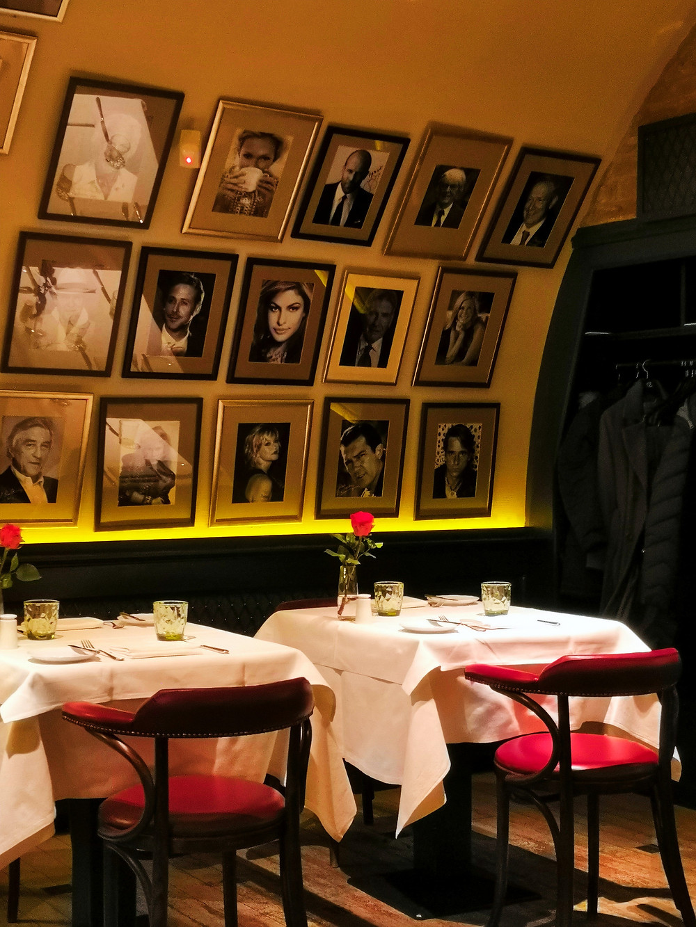The star-studded walls of Cafe Pierrot, Budapest