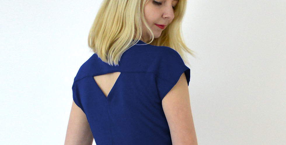 TIE UP TOP | Riviera Style Beach Top in Navy